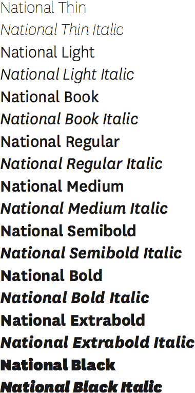 National type sample